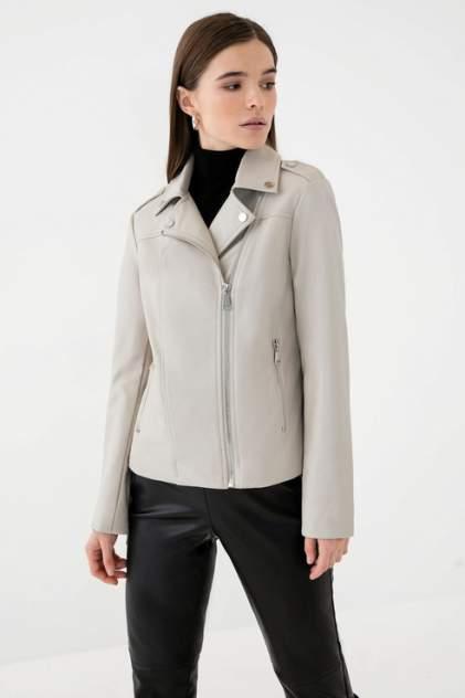 Кожаная куртка женская ZARINA 1123452132 серая 44