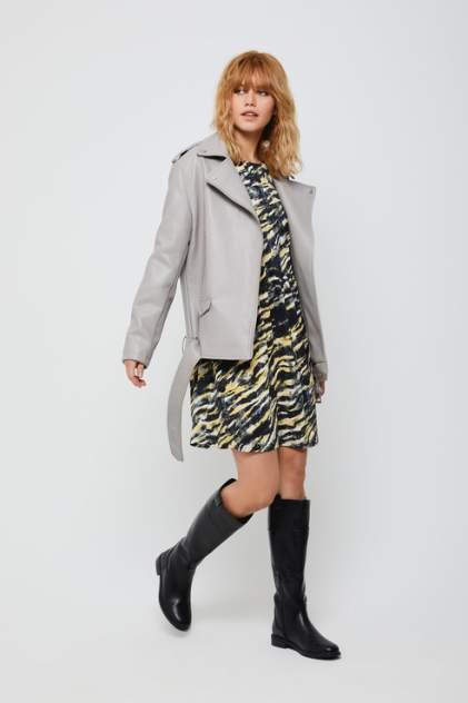 Кожаная куртка женская Sela 1803011119 серая 46
