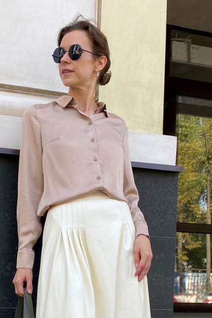 Женская блуза Emka B2412/kolm, бежевый