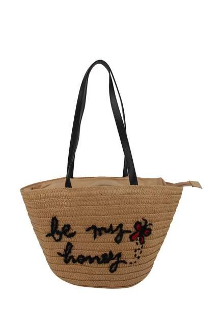 Пляжная сумка женская Daniele Patrici 124366 коричневая/черная