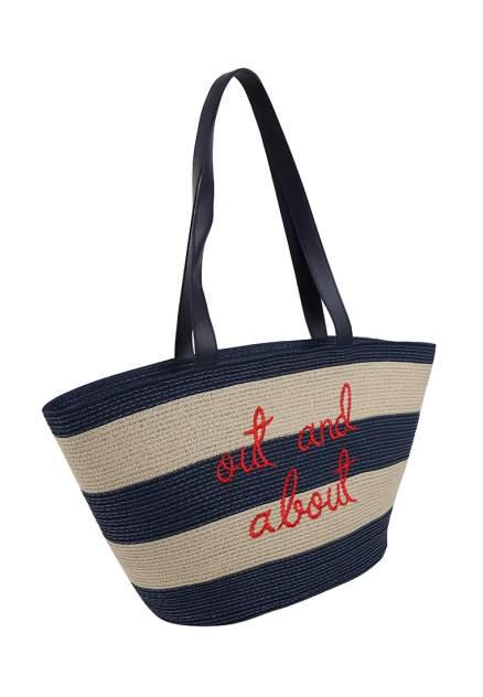 Пляжная сумка женская Daniele Patrici 124363 голубая/бежевая