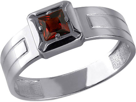 Кольцо мужское Aquamarine 6561703-S-a из серебра, р. 20.5