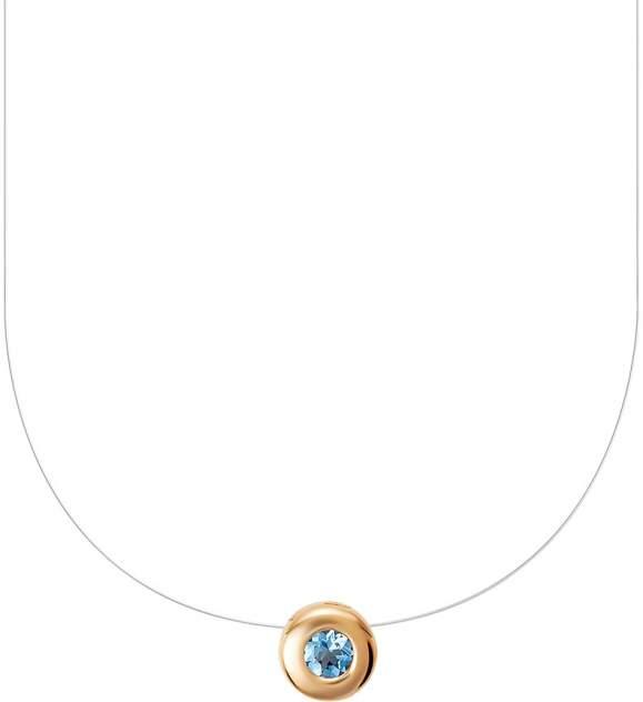 Колье женское Vesna jewelry 61002-150-175-02 из красного золота, аквамарин, 38 см