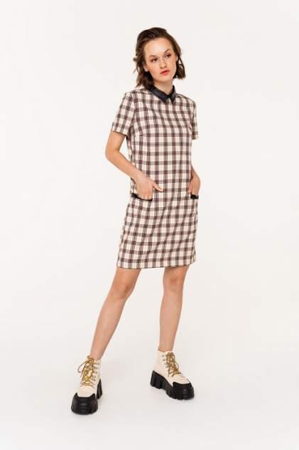 Платье-рубашка женское befree 2031502582 бежевое 46