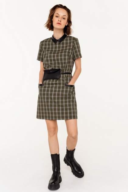 Платье-рубашка женское befree 2031502582 зеленое 46