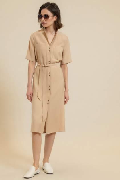 Платье-рубашка женское ZARINA 0224009509 бежевое 46