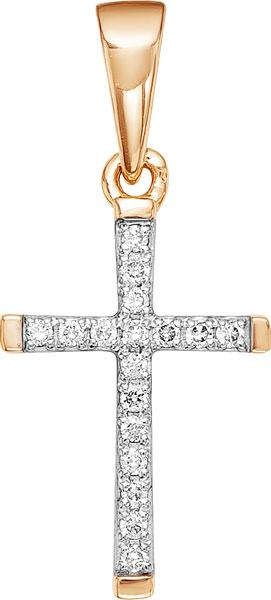 Подвеска женская Vesna jewelry 3210-151-01-00 из красного золота, бриллиант
