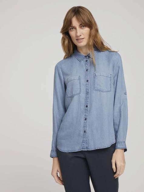 Женская джинсовая рубашка TOM TAILOR 1016200, синий