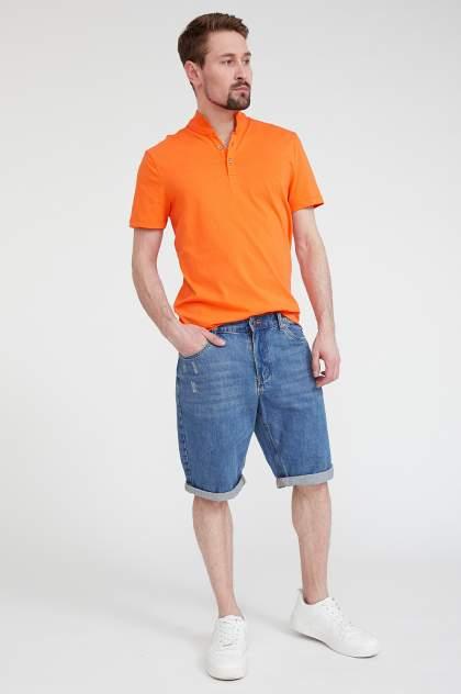 Футболка-поло мужская Finn Flare S20-24020 оранжевая 3XL