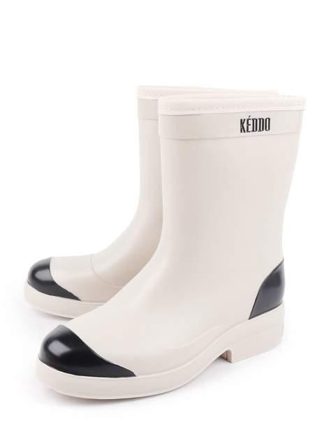 Резиновые сапоги женские Keddo 898271-01 бежевые 39 RU