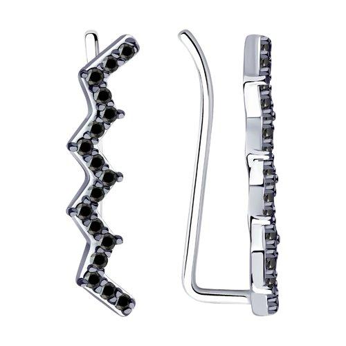 Серьги женские из серебра SOKOLOV 94023899, фианит
