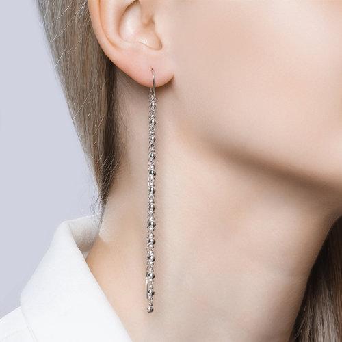 Серьги женские из серебра SOKOLOV 94020806, без вставки