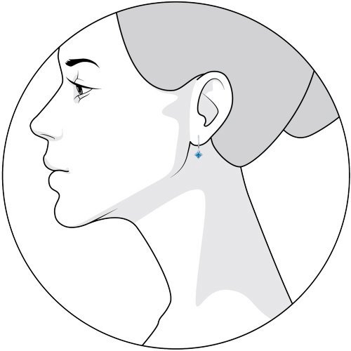 Серьги женские из серебра SOKOLOV 94020582, фианит