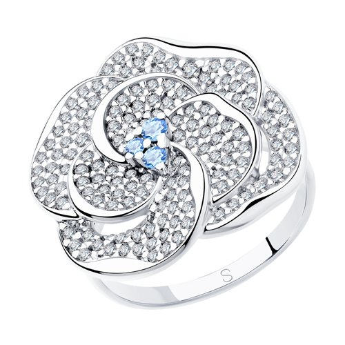 Кольцо женское SOKOLOV из серебра с фианитами 94012997 р.18.5
