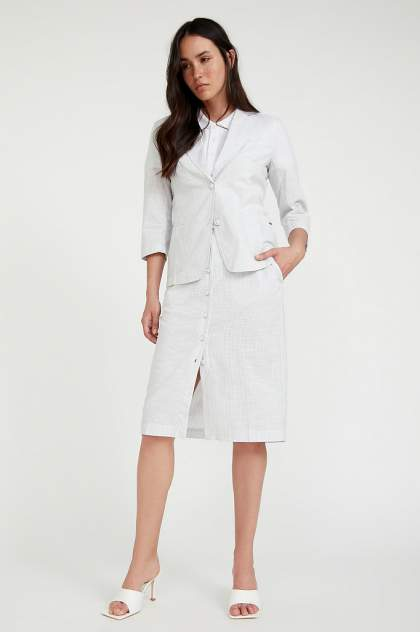 Женская юбка Finn Flare S20-11083, серебристый