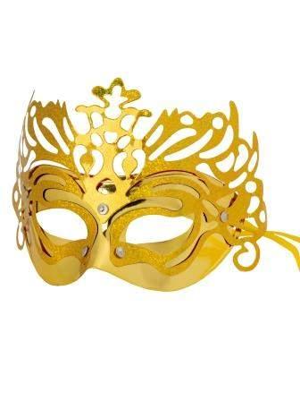 Маскарадная маска Золотая арт.82002 Феникс-Презент