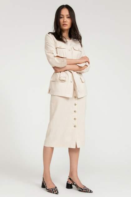 Женская юбка Finn Flare S20-14052, бежевый