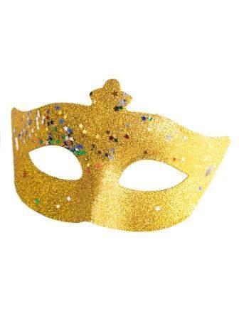Маскарадная маска Золотое конфетти арт.82000 Феникс-Презент