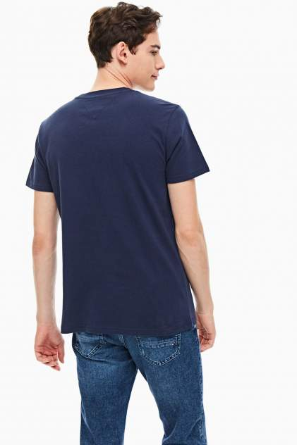 Футболка мужская Tommy Jeans DM0DM08672 C87 синяя XXL INT