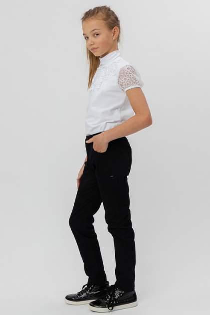 Классические брюки Button Blue 220BBGS56020800 цв.черный р.122