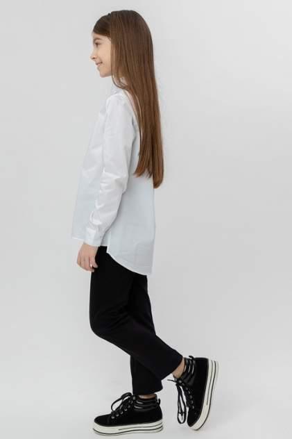 Белая рубашка с удлиненной спинкой Button Blue 220BBGS22120200 цв.белый р.152