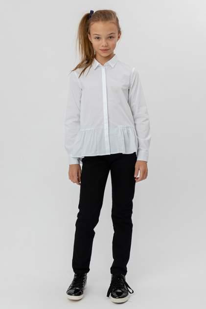 Блузка с баской и удлиненной спинкой Button Blue 220BBGS22110200 цв.белый р.140