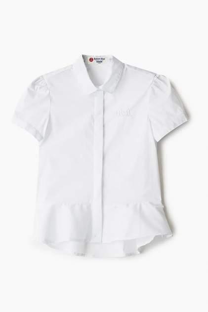 Блузка с баской и удлиненной спинкой Button Blue 220BBGS22090200 цв.белый р.140