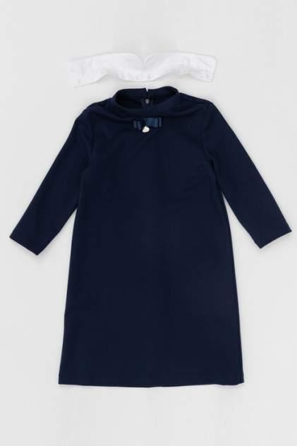Трикотажное платье Button Blue 220BBGS50031000 цв.синий р.134