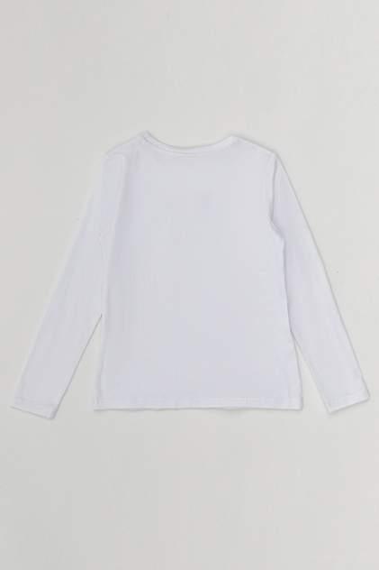 Трикотажная блузка с вставкой из кружева Button Blue 220BBGS14020200 цв.белый р.134