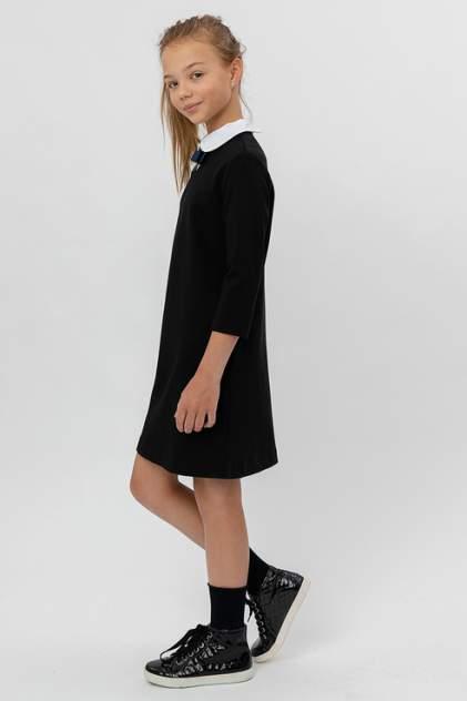 Трикотажное платье Button Blue 220BBGS50030800 цв.черный р.140