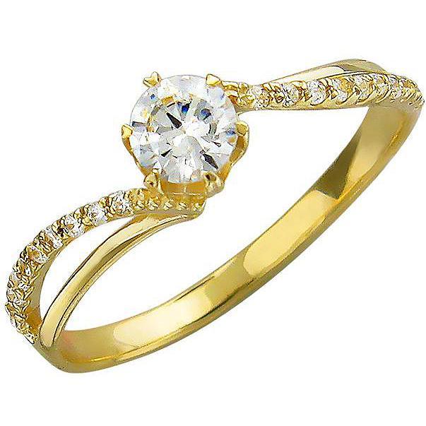 Кольцо женское Эстет 01К135760 р.18.5