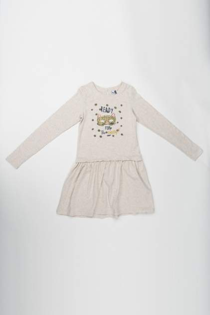 Платье для девочки 3pommes, цв.бежевый, р-р 80