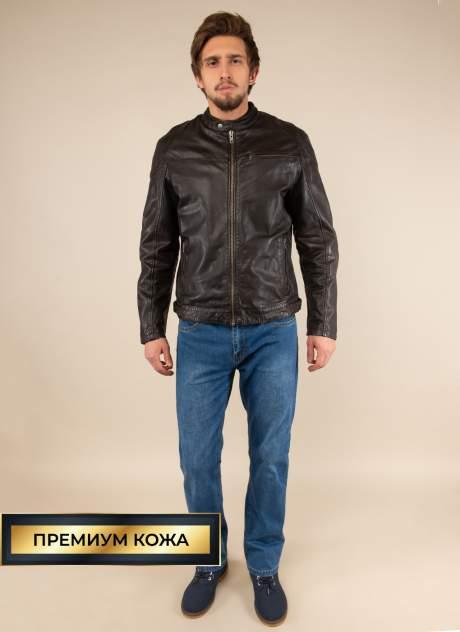 Кожаная куртка мужская Каляев 156183 коричневая 50
