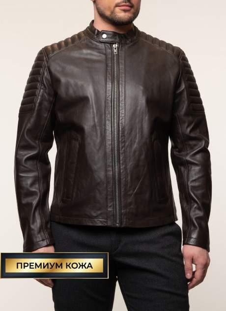 Кожаная куртка мужская Каляев 157957 коричневая 56