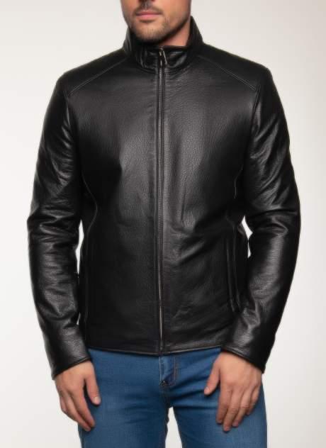 Кожаная куртка мужская Каляев 158443 черная 62