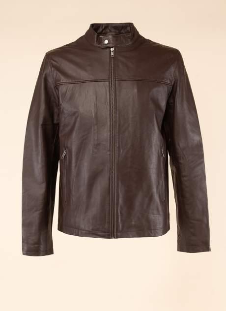 Кожаная куртка мужская Каляев 158984 коричневая 56