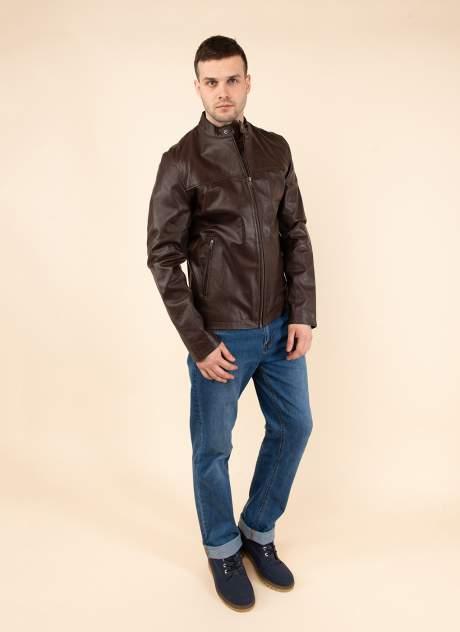 Кожаная куртка мужская Каляев 158984 коричневая 58