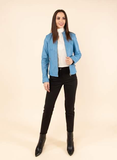 Кожаная куртка женская Каляев 1594315 синяя 46
