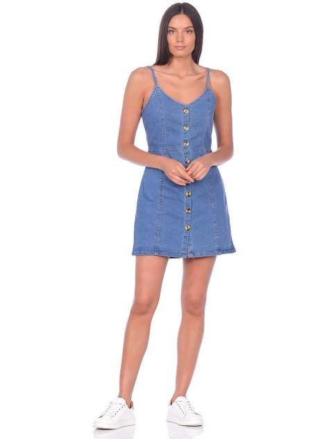 Платье-сарафан женское Modis M201D00408 голубое 48