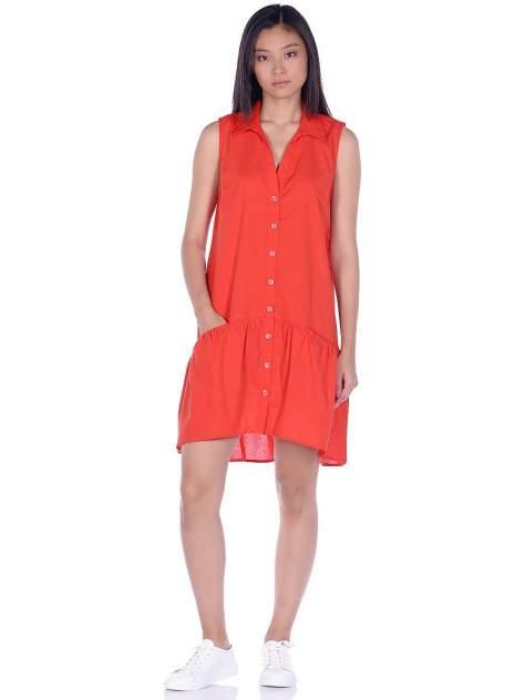 Платье-рубашка женское Modis M201W01294 красное 48