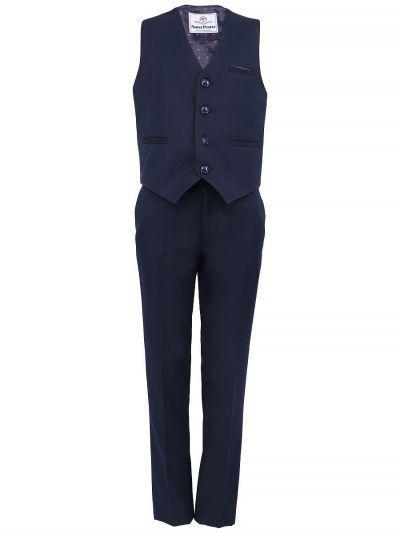 Жилет+брюки для мальчиков Noble People цв. синий р.140