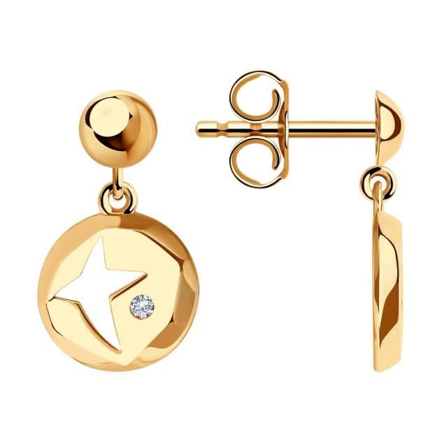 Серьги женские из золота SOKOLOV 029338, фианит