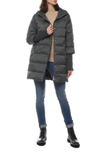 Пуховик-пальто женский СНЕЖНАЯ КОРОЛЕВА 247627000 зеленый 46