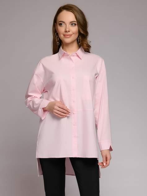 Рубашка женская 1001dress 0212007-00078PK розовая 56 RU