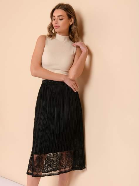 Юбка женская 1001dress 0122110-02431BK черная 48 RU