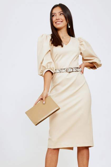 Женское платье AVEMOD AV 1047, бежевый
