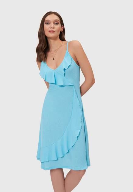 Платье женское Modis M201W01213 бирюзовое 44-46 RU