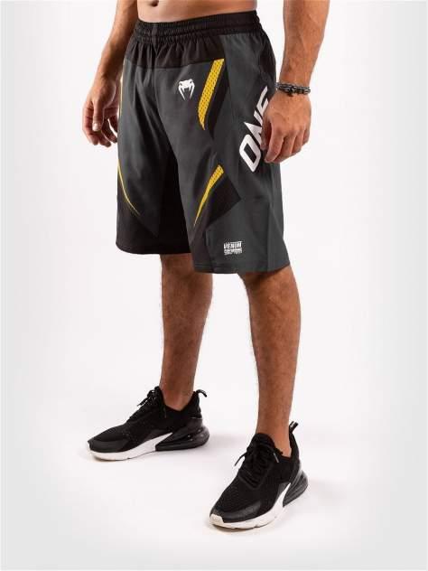 Шорты Venum ONE FC Impact Grey/Yellow, XL