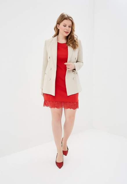 Повседневное платье женское Modis M191W00192 красное 56