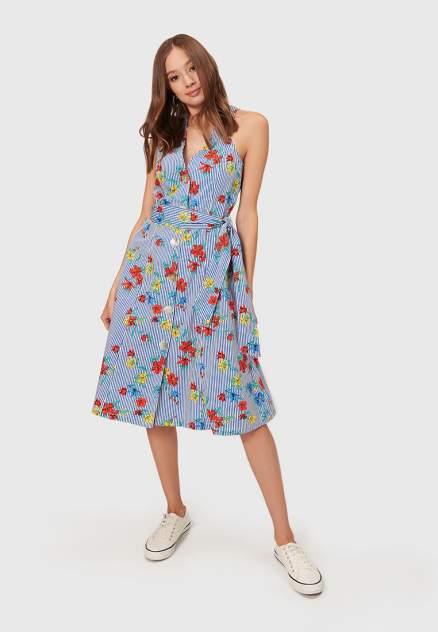 Платье женское Modis M201W01295 голубое 44 RU